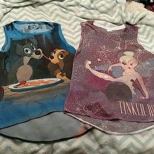 Pair of sleeveless Disney tanks !